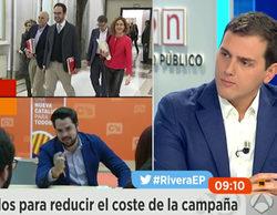 """Rivera ('Espejo público'): """"Puede haber otros debates con las mujeres de la lista"""""""