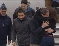 Aterrizan en España los tres periodistas liberados en Siria