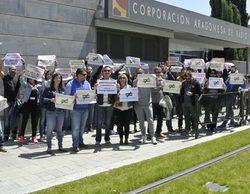 Chip Audiovisual se moviliza contra la temporalidad y la precariedad en Aragón TV