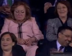 """Ni las esteladas ni Messi, la protagonista de la final de Copa fue """"la mujer de rosa"""""""