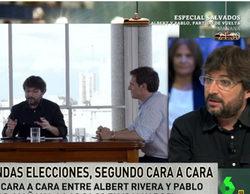Évole ('laSexta Noche') desvela los secretos del grupo de Whatsapp entre Iglesias y Rivera