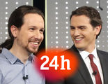 La información sobre Ciudadanos duplicó a la de Podemos en el Canal 24 Horas durante el último mes