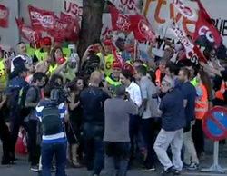 La llegada de los líderes a 'El debate a 4', marcada por el apoyo de Pablo Iglesias y Pedro Sánchez a los trabajadores de RTVE