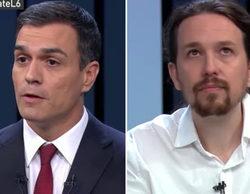 Grecia entra por Venezuela en 'El debate a 4', en el que Rivera y Sánchez se abrazan ante el protagonismo de Iglesias y Rajoy