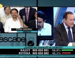 'El cascabel' de 13tv veta a Pablo Iglesias de su encuesta sobre 'El debate a 4'