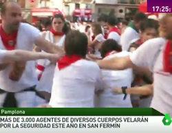 Agreden en directo a un cámara de 'Más vale tarde', en las fiestas de San Fermín