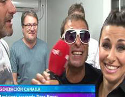 """Toño Sanchís y """"sus canallas"""" humillan a una reportera de La 8 Valladolid durante una conexión en directo"""