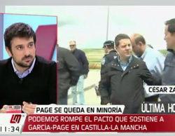 """Silencio sepulcral en 'Las mañanas de Cuatro' sobre la """"tarjeta black"""" del padre de Ramón Espinar"""