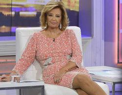 María Teresa Campos casi se desmaya en directo en '¡Qué tiempo tan feliz!'