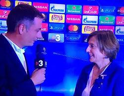 Alfombra roja de TV3 a Carme Forcadell: un periodista le desea suerte con el proceso independentista