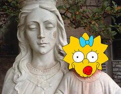Ecce Homo 2.0: Una artista cambia el rostro del Niño Jesús por el de Maggie Simpson