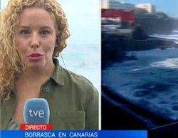 """La """"locamente"""" graciosa errata del Telediario de TVE en una conexión en directo"""