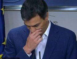 Pedro Sánchez rompe a llorar en directo tras renunciar a su escaño