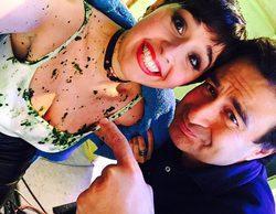 Alejandra Castelló se ducha en vómito de vaca en 'Hora punta' tras perder un reto con Àlex Casademunt