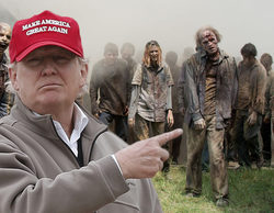 Donald Trump vence a 'The Walking Dead' con una de sus primeras apariciones en TV como presidente