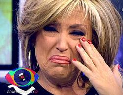 'Gran Hermano 17: El debate': Lydia Lozano sufre un accidente con una cámara e Ylenia lo retransmite