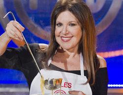Loles León, primera finalista de 'MasterChef Celebrity' entre tensión, llantos y platos fallidos grupales