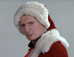 Liam Neeson finge presentarse a un casting para interpretar a Santa Claus