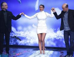 Cristina Pedroche camina sobre cristales mientras que Mario Vaquerizo desactiva una bomba en 'Hipnotízame'