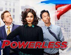 'Powerless': Vanessa Hudgens idea la forma de combatir los daños de los superhéroes en el primer avance