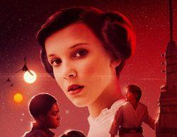 """'Stranger Things': Los niños se convierten en los protagonitas de """"Star Wars"""" en un póster fan-made"""