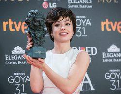 """Anna Castillo y su inesperada victoria en los Goya 2017: """"¡Lo estoy flipando!"""""""