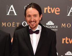 Pablo Iglesias se multiplica: en los Goya 2017 y 'laSexta Noche' a la vez