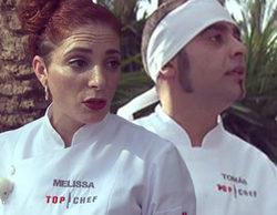 Lío entre Tomás y Melissa en 'Top Chef 4' en una prueba con estrategias descubiertas y empujones