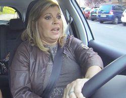 """Terelu Campos ('Las Campos'), histérica en su primera clase de conducir: """"Yo me quedo aquí, que hay churros"""""""