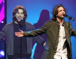 Manuel Carrasco ('La Voz') felicita al ganador de la tercera gala de 'Tu cara no me suena todavía'