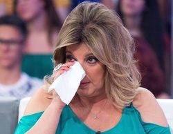 Terelu Campos rompe a llorar en 'Sálvame' tras los ataques de Mila Ximénez a su hermana, Carmen Borrego