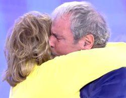 Jesús Mariñas ('¡Qué tiempo tan feliz!'), incapaz de reprimir las lágrimas, se derrumba ante Mª Teresa Campos