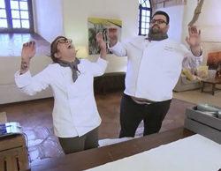 """La tremenda caída de Richard y Rakel en 'Top Chef 4': """"Nos hemos dado la talega de la edición"""""""