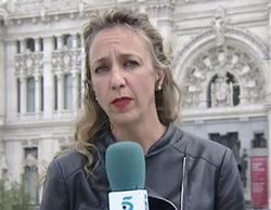 Una reportera de Informativos Telecinco abandona apresuradamente el directo por un problema en la garganta