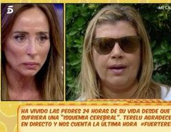 María Patiño, muy emocionada con Terelu tras el ingreso de María Teresa Campos