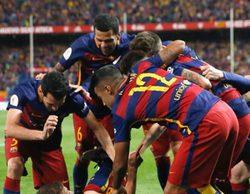 Manu Carreño obvia los pitidos de la afición al himno de España en la final de la Copa del Rey