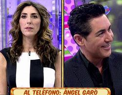 """Ángel Garó rectifica sobre su actitud con Paz Padilla: """"No entiendo los comentarios que hice sobre ella"""""""