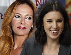 Paula Vázquez se acerca al Congreso de los Diputados para apoyar a Irene Montero en la moción de censura