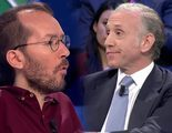 'laSexta Noche': Eduardo Inda protagoniza otra bronca, esta vez, contra Pablo Echenique