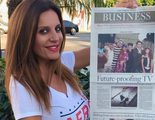 Sonia Monroy sorprende en Los Ángeles participando en la primera telenovela en directo