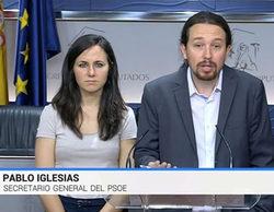 """Televisión Española denomina """"secretario general del PSOE"""" a Pablo Iglesias y provoca las mofas en Twitter"""