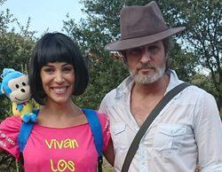 Nerea Garmendia y Jesús Olmedo acuden caracterizados como Dora la exploradora e Indiana Jones a una boda
