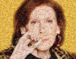 Un fan de 'Aquí no hay quien viva' hace un retrato de Marisa (Mariví Bilbao) a partir de fotos de cigarrillos