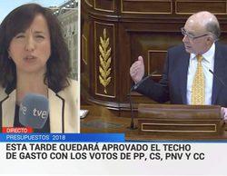 """La comentada errata del Telediario de TVE: cambia """"aprobado"""" por """"aprovado"""" en un rótulo"""