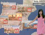 Un gazapo de 'El tiempo' de TVE logra que la capital de Asturias tenga playa