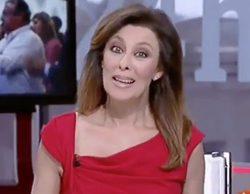 La presentadora Beatriz Pérez-Aranda vuelve a ser pillada en directo en el Canal 24 Horas