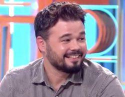 """Gabriel Rufián, en 'Dani & Flo': """"Quien no haya visto 'OT 1' no merece ser de izquierdas"""""""