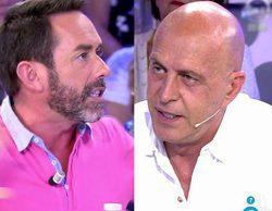 """Kiko Matamoros y Jesús Manuel, enfrentados en 'Sálvame': """"Te estás llevando el porcentaje de Rafa Mora"""""""
