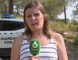 Laura Llamas, reportera de 'Más vale tarde', salta a la fama informando sobre el incendio de Yeste (Albacete)