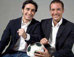 'Deportes Cuatro': Juanma Castaño y Manu Carreño vuelven a coincidir frente a una cámara en el Camp Nou